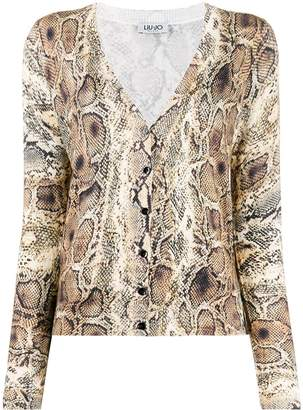 Liu Jo snake skin print cardigan