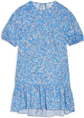 Topshop Floral Print Poplin Shift Dress