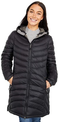 L.L. Bean L.L.Bean Petite Ultralight 850 Down Hooded Coat (Black) Women's Clothing