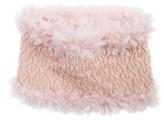 Muk Luks Women's Textured Romance Funnel Scarf - Light Pink