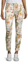 Seven For All Mankind Tropical Printed Skinny Ankle Jeans