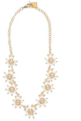 Rosantica Daisy Faux-pearl Necklace - Gold Multi