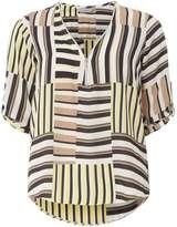 Dorothy Perkins Petite Khaki Stripe Shirt