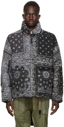 Children of the Discordance SSENSE Exclusive Multicolor Down Bandana Patchwork Jacket