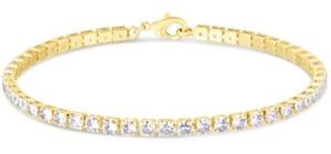 Macy's Cubic Zirconia Tennis Bracelet in Fine Silver Plate