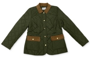 Charter Club Quilted Corduroy-Trim Jacket, Created for Macy's