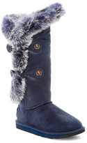 Australia Luxe Collective Nordic Angel Extra Tall Genuine Shearling Boot With Genuine Rabbit Fur Trim