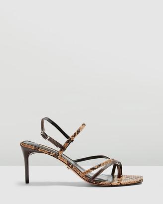 Topshop Nicole Snake Strippy Sandals