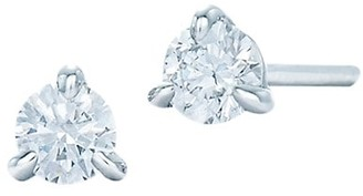 Kwiat Stud Platinum & Diamond Solitaire Round Stud Earrings/0.25 TCW