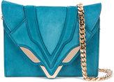 Elena Ghisellini stitch detail crossbody bag - women - Leather/Suede - One Size