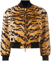 DSQUARED2 tiger print bomber jacket - women - Polyester - 40