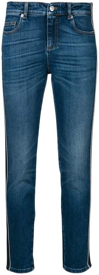 Alexander McQueen side stripe slim jeans