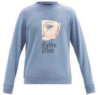 Undercover Fallen Man Cotton-jersey Sweatshirt - Blue