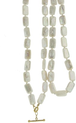 Cathy Waterman Coin Pearl Beaded Strand Yellow Gold Necklace