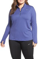 Nike Plus Size Women's 'Element' Dri-Fit Half Zip Running Top