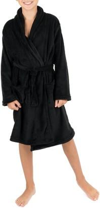 Leveret Black Shawl Collar Fleece Robe (Toddler, Little Boys, & Big Boys)
