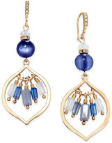 INC International Concepts Gold-Tone Blue Stone Drop Earrings, Only at Macy's