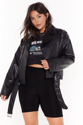 Nasty Gal Plus 80s belted moto jacket