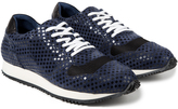Opening Ceremony Navy Multi Checkered Arrow Sneaker
