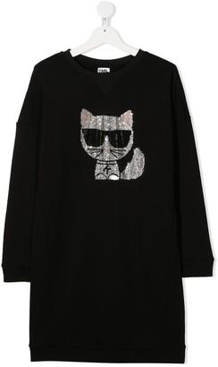 Karl Lagerfeld Paris Sparkle Cat Dress