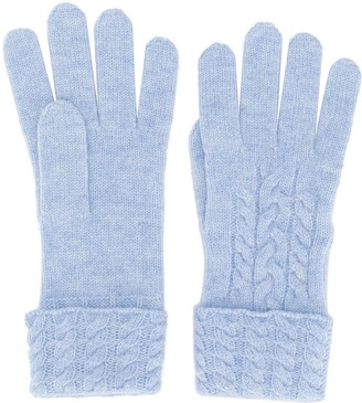 N.Peal Cable Knit Gloves