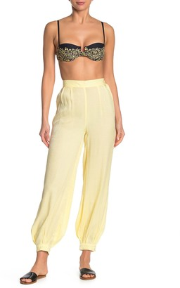 Onia Jodie High Waist Shimmer Cover-Up Pants