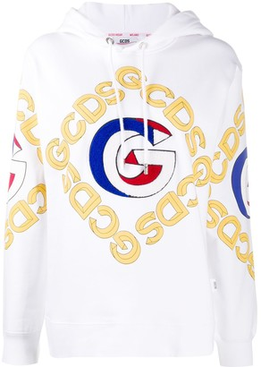 GCDS College Logo Print Hoodie