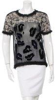 Michael Van Der Ham Silk Short Sleeve Top w/ Tags