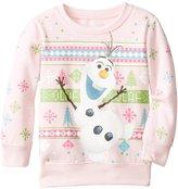 Disney Frozen Little Girls' Olaf Christmas Sweater