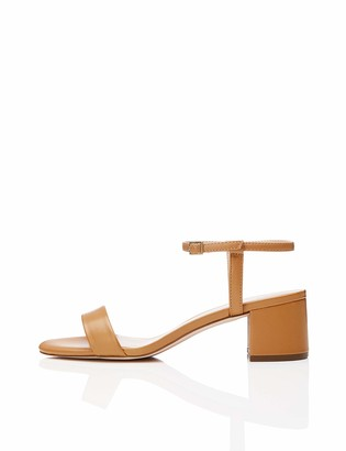 Find. Block Heel Ankle Strap Open Toe Sandals