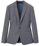 Herringbone slim-fit suit blazer