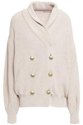 Brunello Cucinelli Double-breasted Ribbed Cotton Cardigan