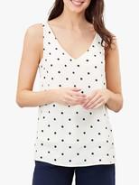 Warehouse Kyra Spot Print Cami Top, Cream