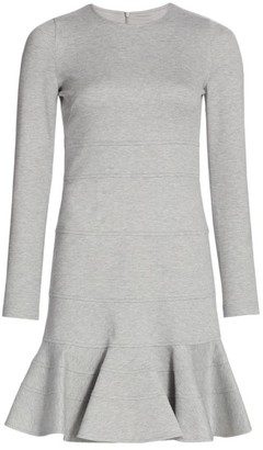 Akris Punto Jersey Seamed Flutter-Hem Dress