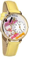 Whimsical Watches Women's G0450010 Cross Stitch Yellow Leather Watch