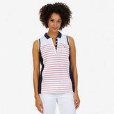 Nautica Striped Sleeveless Polo Shirt