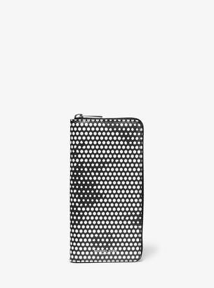 Michael Kors Kent Dot Print Zip-Around Wallet