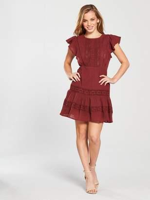 V By Very Petite V by Very Petite Crochet Trim Summer Dress - Rust