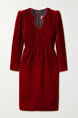 Saint Laurent Velvet Dress - Red