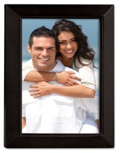 """Lawrence Frames Black Wood Picture Frame - Estero Collection - 8"""" x 10"""""""