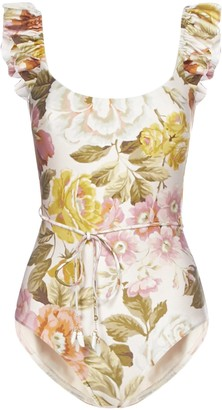 Zimmermann Floral Print Swimsuit