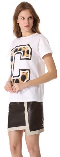 Cecile Big C Cheetah Tee