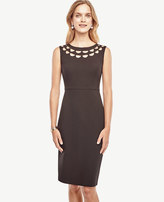 Ann Taylor Tall Cutout Scalloped Dress