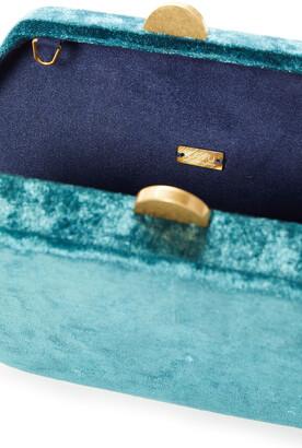 Kayu Sloane Crushed-velvet Box Clutch