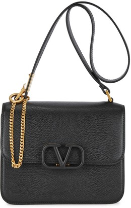 Valentino VSling medium black leather cross-body bag