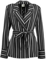 Selected SFDUSINA Blazer black/white stripes