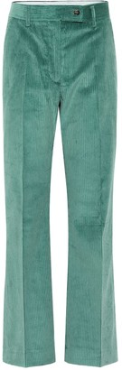 Acne Studios High-rise flared corduroy pants