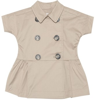 BURBERRY KIDS Baby stretch cotton trench coat dress