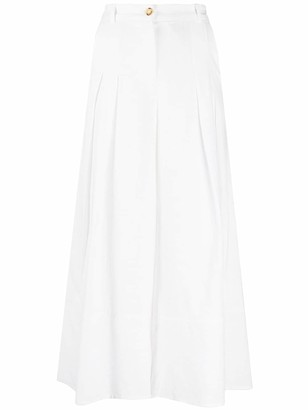 Pinko Wide Leg Cropped Trousers