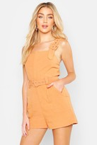boohoo Belted Buckle Strap Playsuit